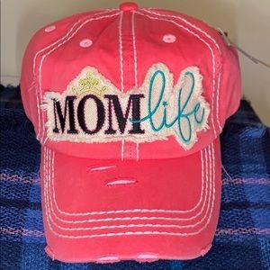Accessories - Mom life Distressed cap